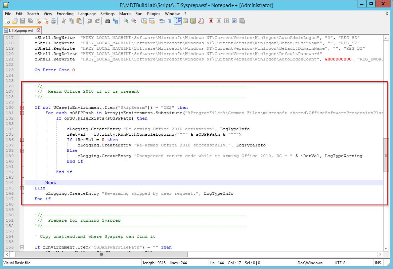Rearming Office using MDT & ConfigMgr - msitproblog
