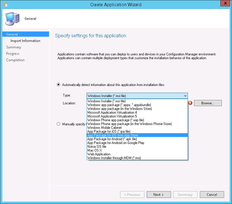 Deploying a free iOS App using ConfigMgr with Intune