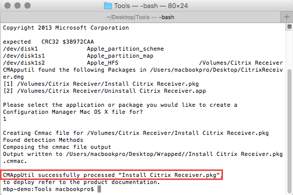 SCCM: Wrapping Mac OS X Apps using CMAppUtil - TechNet