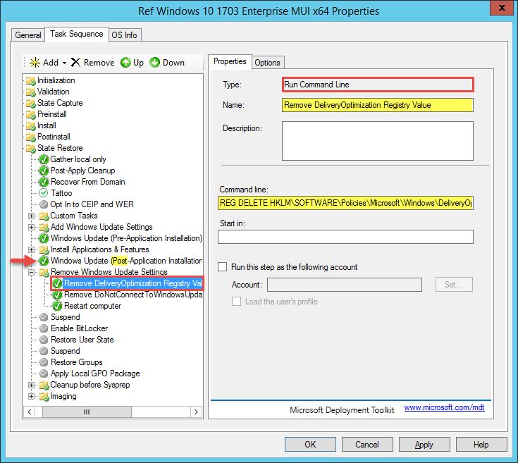 Windows 10 1703 Update Installation fails during MDT / ConfigMgr