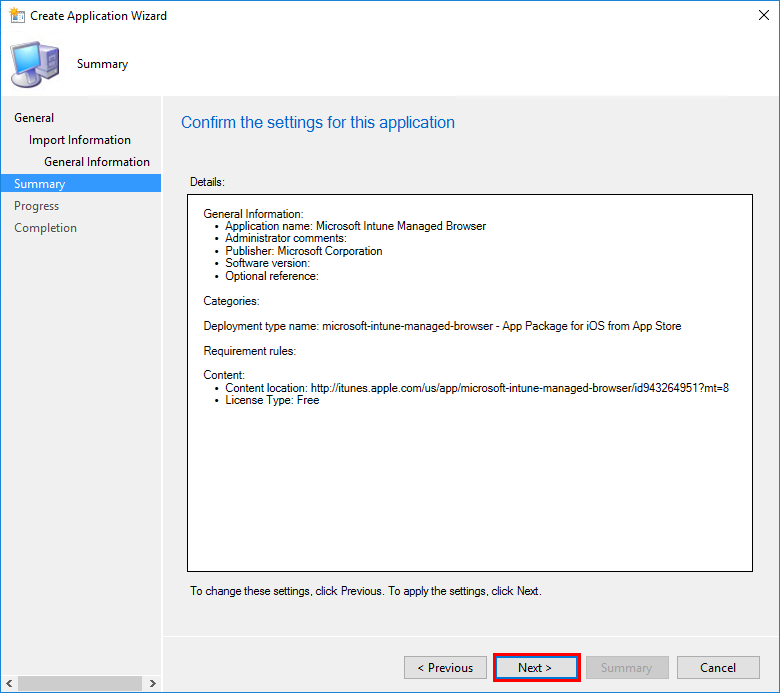 Deploying the Intune Managed Browser via ConfigMgr Hybrid