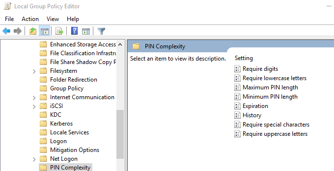 PIN Complexity missing in Windows Hello for Business GPO - msitproblog