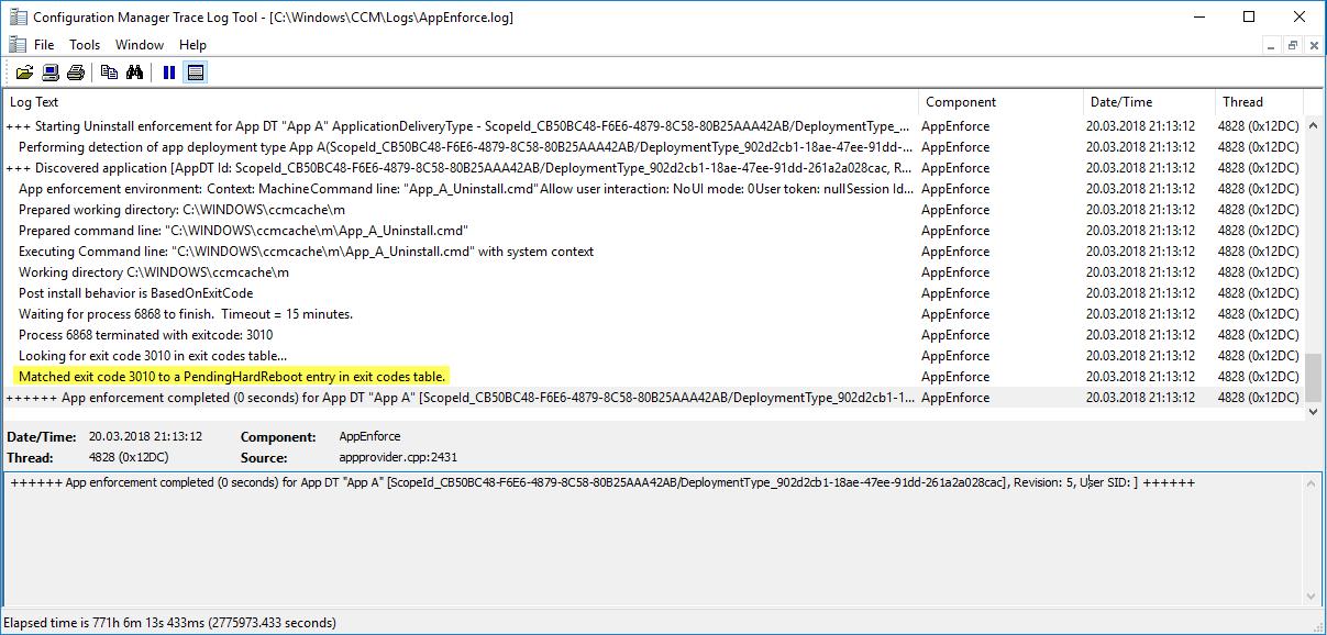 ConfigMgr Application Update with Restart in between